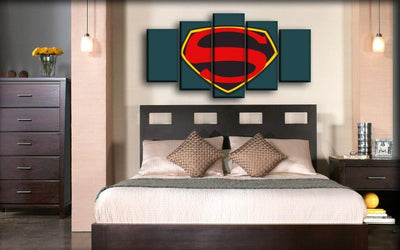 Superman - Retro Logo - Canvas Monsters