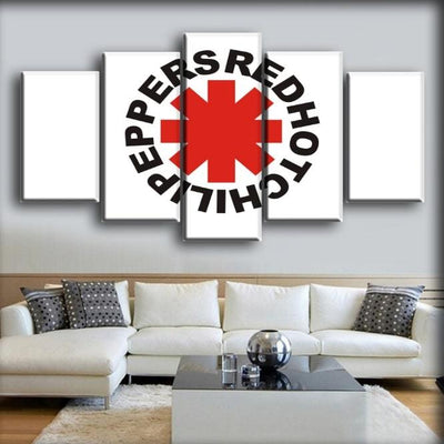 Red Hot Chili Peppers - White Background Logo - Canvas Monsters