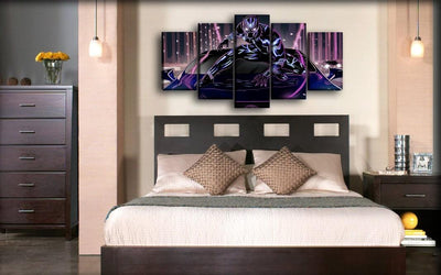 Black Panther - Over The Purple Car - Canvas Monsters