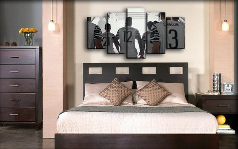 Image of Juventus Team Back Canvas