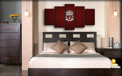 Liverpool - Maroon Slanting Line Background - Canvas Monsters