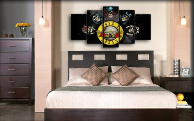 Guns n Roses - Band Skulls - Canvas Monsters
