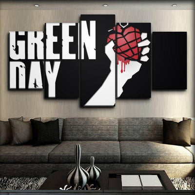 Green Day - American Idiot Heart Bomb - Canvas Monsters