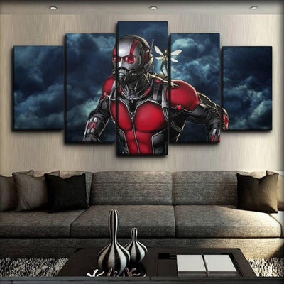 Ant man - Dark Clouds Background - Canvas Monsters