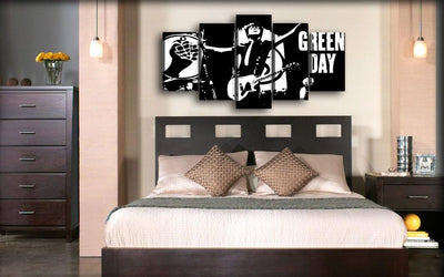 Green Day - Billie Joe Silhouette - Canvas Monsters