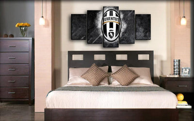 Juventus - White And Gray Background - Canvas Monsters