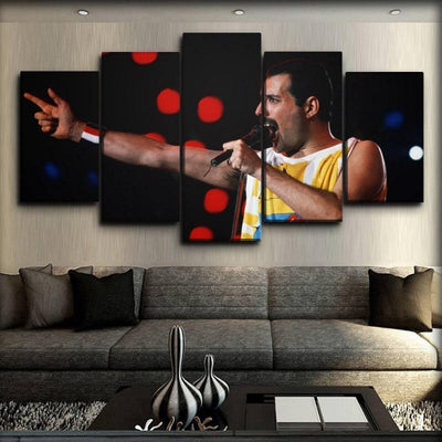 Queen - Freddie Mercury will rock you - Canvas Monsters