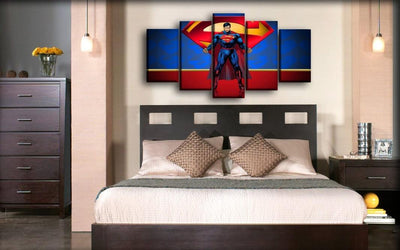 Superman - Red And Blue Theme Background - Canvas Monsters