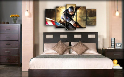Captain America - Super Soldier Game - Canvas Monsters