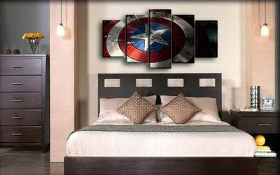 Captain America - Scratched Shield - Canvas Monsters