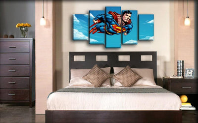 Superman - Flying Cartoon Version - Canvas Monsters