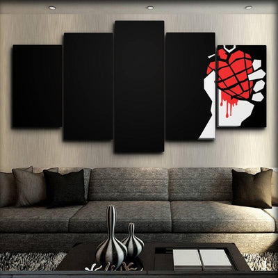 Green Day - Heart Bomb Right Side - Canvas Monsters