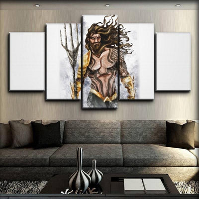 Aquaman - King Of The Sea Art Work - Canvas Monsters