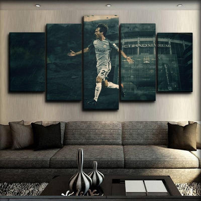 Manchester City - David Silva - Canvas Monsters
