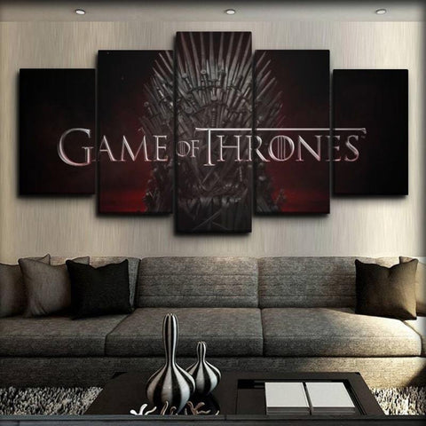 Game Of Thrones - Logo And Iron Throne