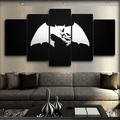 Batman - Bat Flying Logo - Canvas Monsters