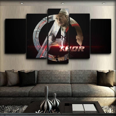 Thor - Avengers Logo - Canvas Monsters