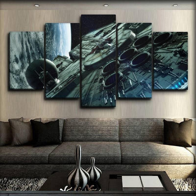 Star Wars - Millennium Falcon Top View - Canvas Monsters