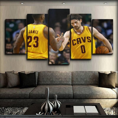 Kevin Love - Together With Lebron - Canvas Monsters