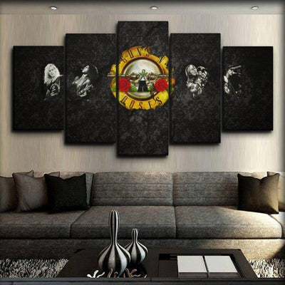 Guns n Roses - Fading Logo - Canvas Monsters