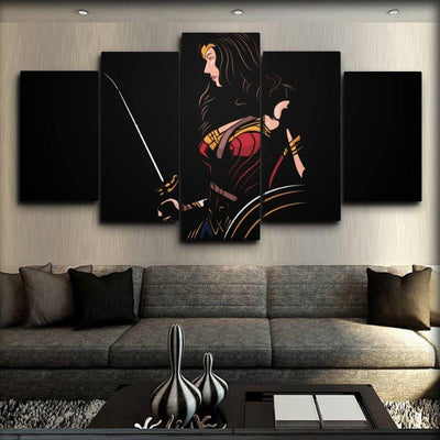 Wonder Woman - Looking At The Sword - Canvas Monsters