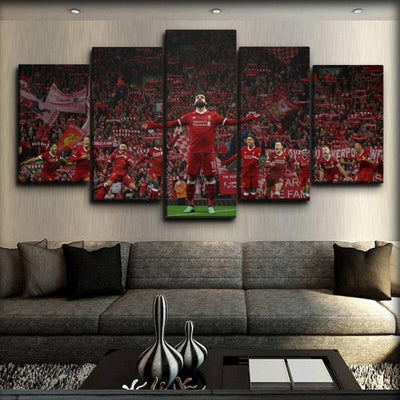 Liverpool - Mohamed Salah & Team - Canvas Monsters