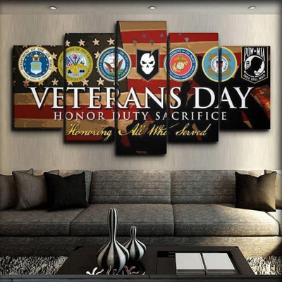 Military Veteran - Honor Duty Sacrifice - Canvas Monsters