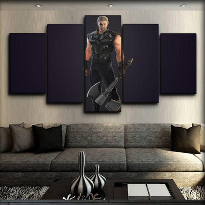 Thor - Ragnarok with Storm Breaker - Canvas Monsters