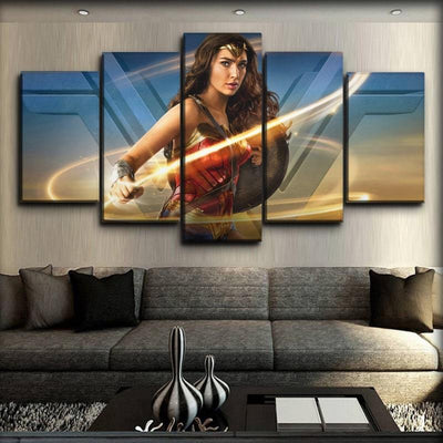 Wonder Woman - Movie Side Angle Profile - Canvas Monsters