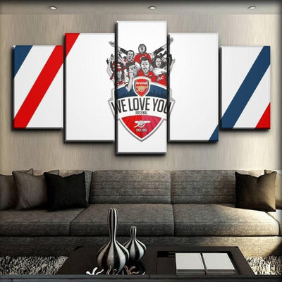 Arsenal - We Love You - Canvas Monsters