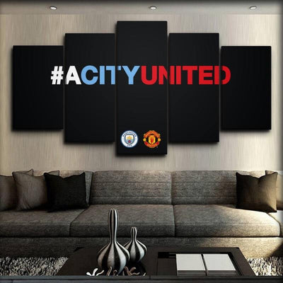 Manchester City - A City United - Canvas Monsters