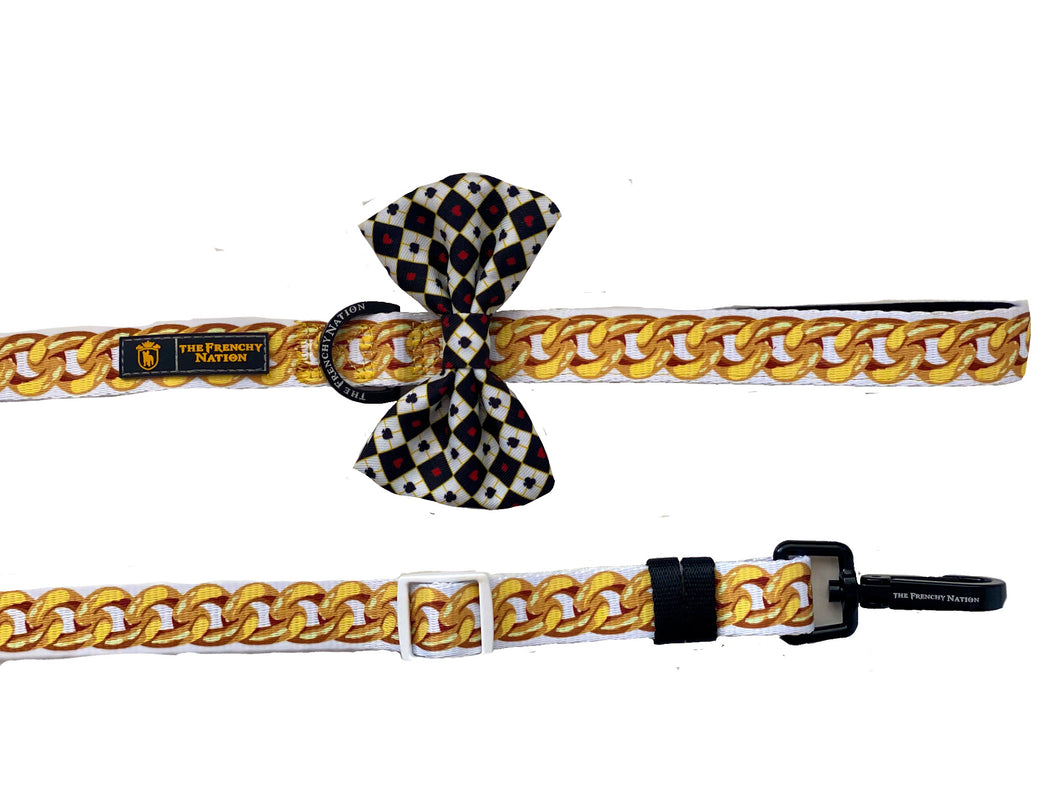 "✨NEW ARRIVAL ✨ ""I'm Rich Bish"" Diamond heist Gold Chain Adjustable leash"