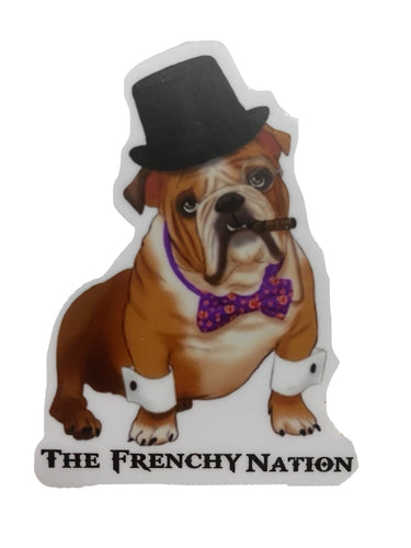 British Bulldog  Sticker   (Fawn )