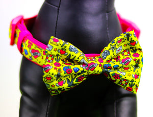 """Queen of Hearts ""  Collar & Bow Tie ✨Bulldog Collection ✨"