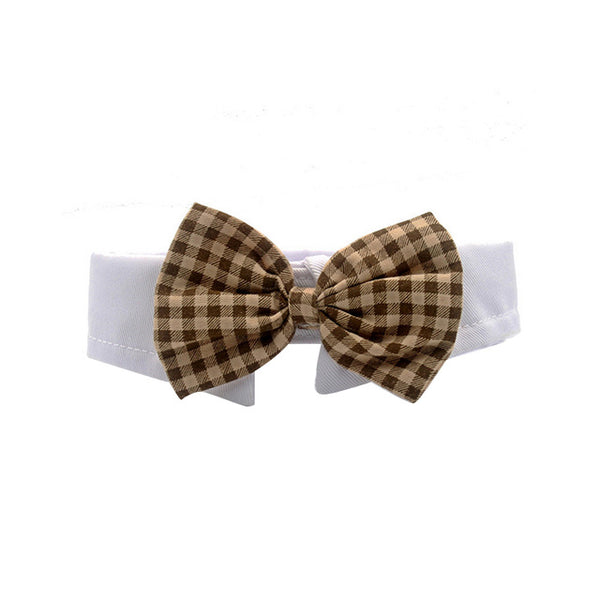 Brown Plaid Bowtie