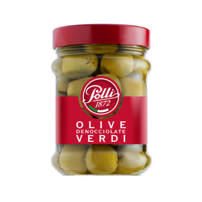 Polli Green Pitted Olives (300g)