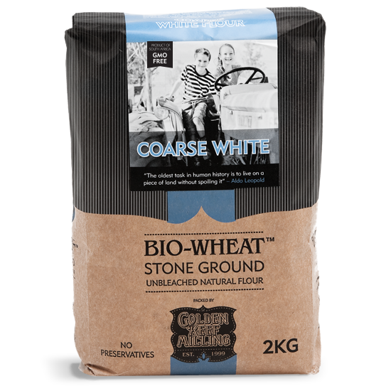 Bio-Wheat Stoneground Coarse White Flour