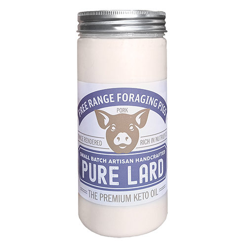 Pure Leaf Lard from free-range field foraging pigs