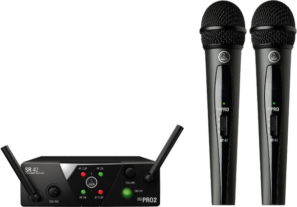 AKG WMS40 - Dual Vocal Wireless Microphone Set