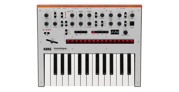 Korg Monologue Monophonic Analog Synthesizer - Silver