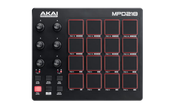 Akai MPD 218 - Feature-Packed, Highly Playable Pad Controller