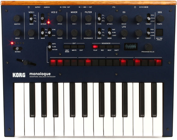 Korg Monologue Monophonic Synthesizer - Blue