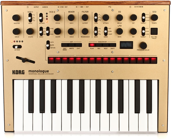 Korg Monologue Monophonic Synthesizer - Gold