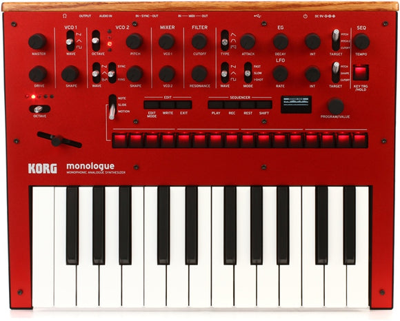 Korg Monologue Monophonic Synthesizer - Red