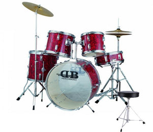 DB Percussion DB52-114-MR 5 Piece Acoustic Drum Kit