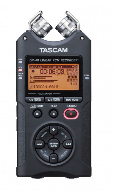 Tascam DR-40 - 4-Channel 96kHz/24-bit Digital Recorder