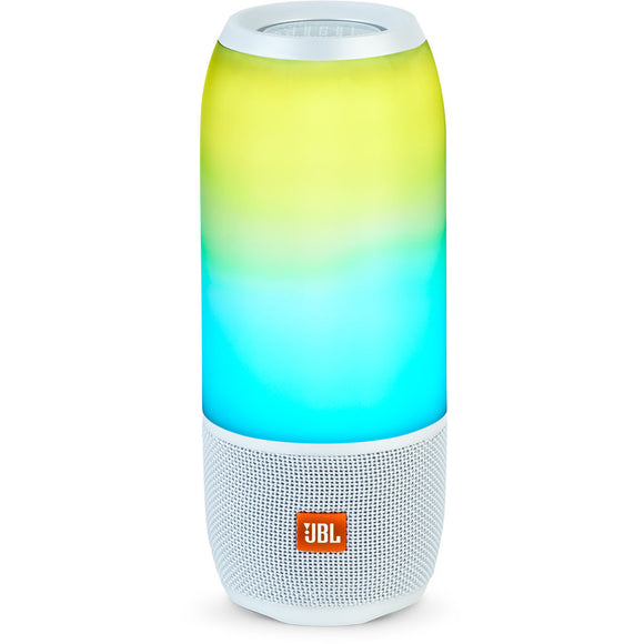 JBL Pulse 3 - Portable Wireless Bluetooth Speaker (White)