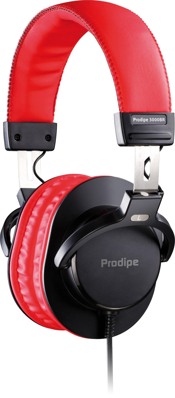 Prodipe 3000BR Professional Headphones - Black & Red