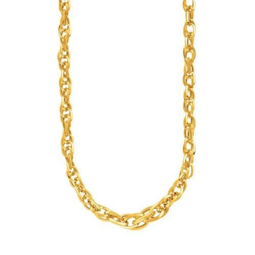 14K Yellow Gold Ornate Prince of Wales Chain Necklace, size 18''-JewelryKorner-com