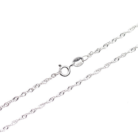 "2 Colors 925 Sterling Silver Chain Necklace - 1mm Singapore Chains  Basic Fashion Jewelry Accessories for Men & Women, 16"" - 30"""